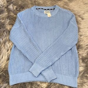 NWT Light Blue PINK Knitted Sweater